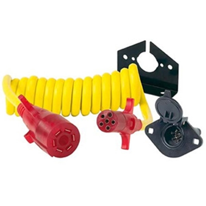Picture of Hopkins Endurance (TM) 7-Blade To 6-Round Trailer Wiring Connector Adapter w/8' Wire 47054 19-1822