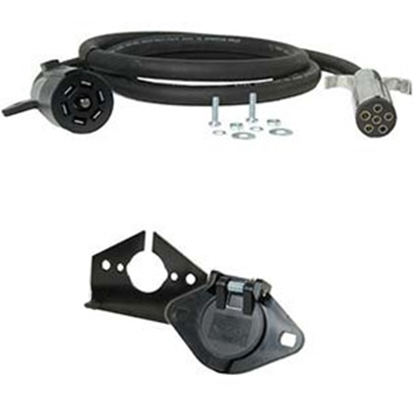Picture of Hopkins Endurance (TM) 7-Blade To 6-Round Trailer Wiring Connector Adapter w/8' Wire 47057 19-1824