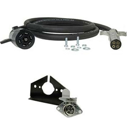 Picture of Hopkins Endurance (TM) 7-Blade To 4-Round Trailer Wiring Connector Adapter w/8' Wire 47047 19-1825