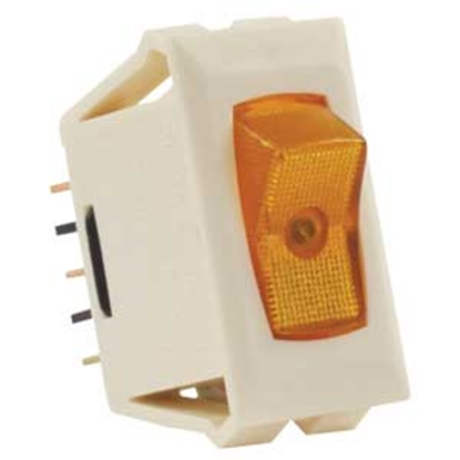 Picture of JR Products  Ivory 12V SPST Lighted Single Rocker Switch 12575 19-1855