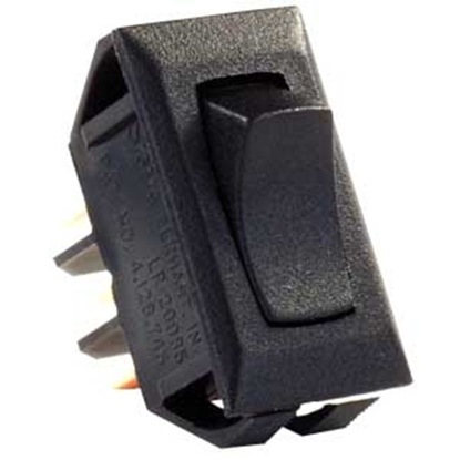 Picture of JR Products  Black 12V SPDT Rocker Switch 12665 19-1867