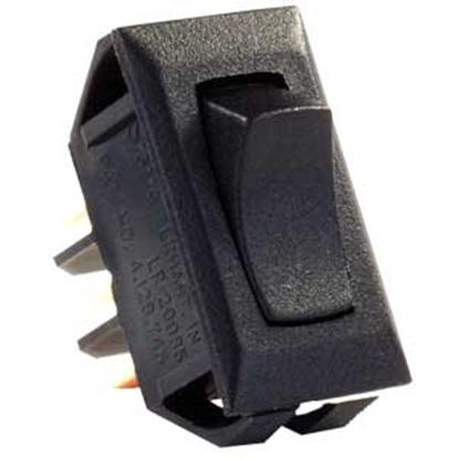 Picture of JR Products  Black 12V SPDT Rocker Switch 12665 19-1867