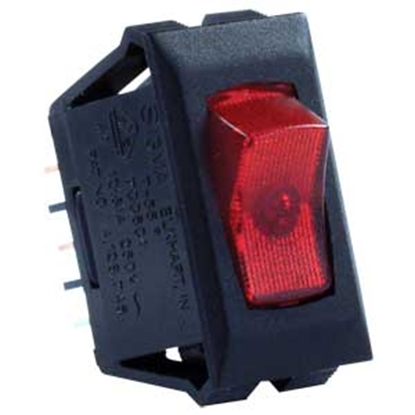 Picture of JR Products  Black 120V SPST Lighted Single Rocker Switch 12515 19-1872
