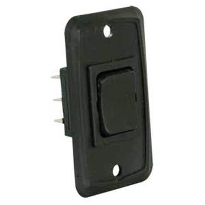 Picture of JR Products  Black 12V DPDT Rocker Switch 12825 19-1881