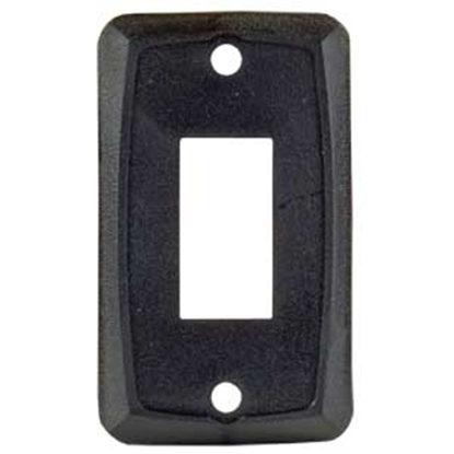 Picture of JR Products  Black Single Opening Multi Purpose Switch Faceplate 12855 19-1886