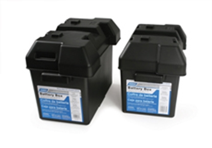 Picture of Camco  Black Group 27, 30 & 31 Battery Box With Lid 55372 19-2002