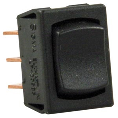 Picture of JR Products  Black 125V/ 13A SPDT Rocker Switch 13725 19-2049