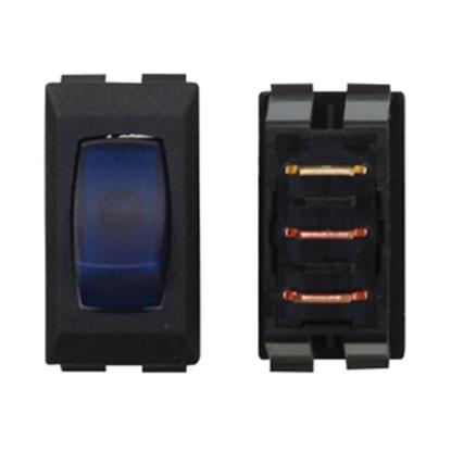 Picture of Diamond Group  1-Piece Black w/Blue Light SPST Rocker Switch A1-36C 19-2059