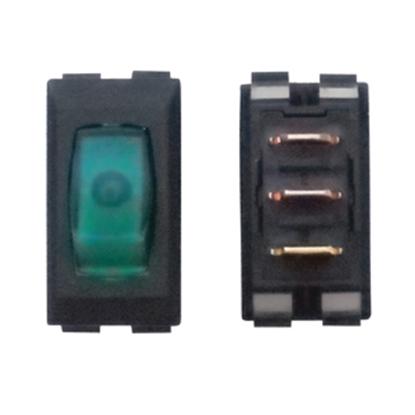 Picture of Diamond Group  1-Piece Black w/Green Light SPST Rocker Switch A1-38C 19-2061