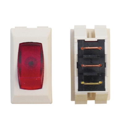 Picture of Diamond Group  1-Piece Ivory w/Red Light SPST Rocker Switch A1-82C 19-2062