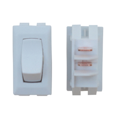 Picture of Diamond Group  1-Piece White SPST Rocker Switch B1-10 UC 19-2063
