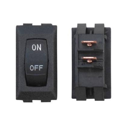 Picture of Diamond Group  1-Piece Black SPST Rocker Switch B1-18U-315SC 19-2066