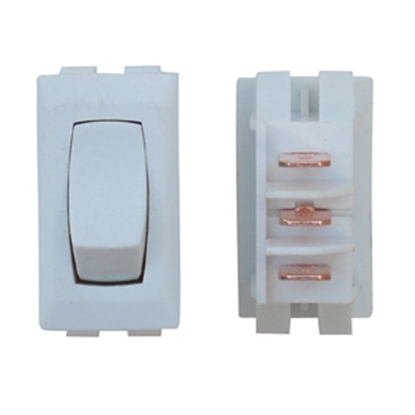 Picture of Diamond Group  1-Piece White SPST Rocker Switch C1-41-UC 19-2070