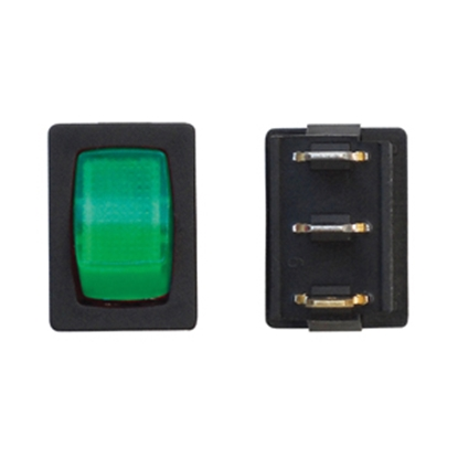 Picture of Diamond Group  Green/ Black 125V/ 16A SPST Lighted Rocker Switch For Water Pumps A2-38C 19-2080