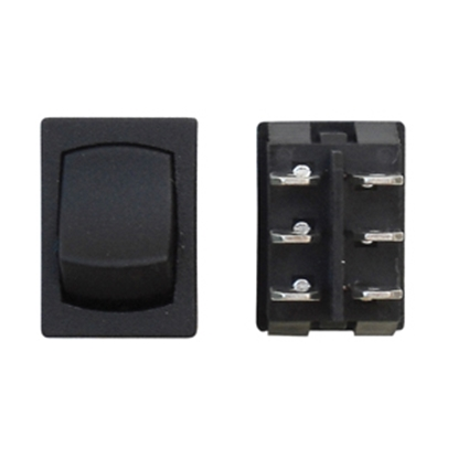 Picture of Diamond Group  Black 125V/ 16A DPDT Mini Rocker Switch w/ Bezel For Water Pumps E2-41C 19-2084