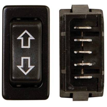 Picture of Diamond Group  Black 20A/12V 5-Pin DPDT Momentary Slide Out Switch 17-15B 19-2088