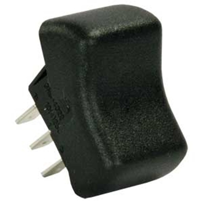 Picture of JR Products  Black 125-250V/ 16A DPDT Rocker Switch 13055 19-2098