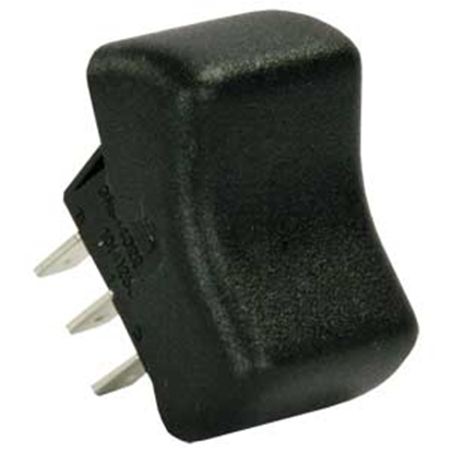 Picture of JR Products  Black 125-250V/ 16A SPDT Rocker Switch 13095 19-2101