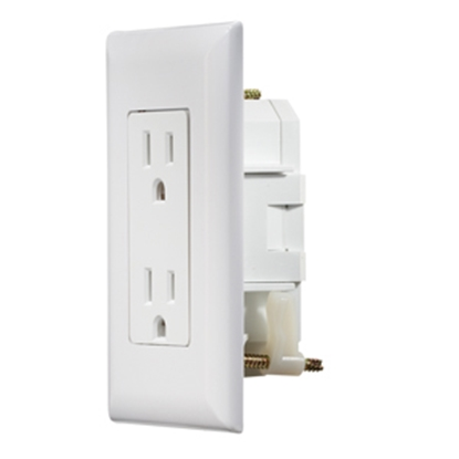Picture of RV Designer  White 125V Dual Receptacle S811 19-2416