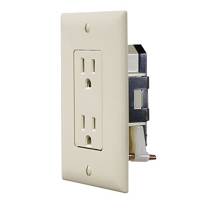 Picture of RV Designer  Ivory 125V Dual Receptacle S813 19-2425
