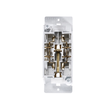 Picture of RV Designer  White 125V Receptacle S831 19-2433