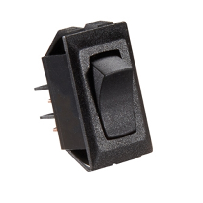 Picture of RV Designer  Black 10A SPST Rocker Switch for Water Heater S321 19-2456