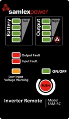 Picture of Samlex Solar  Inverter Remote Control for Samlex SAM Series w/10' Cable SAM-RC 19-2550
