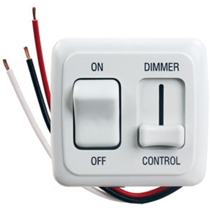 Picture of JR Products  White 15A/ 12V Dimmer Switch 15205 19-2603