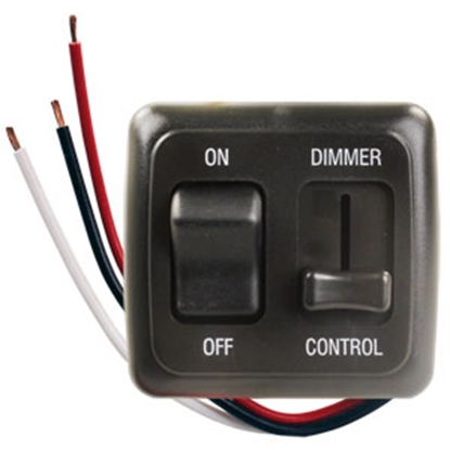 Picture of JR Products  Black 15A/ 12V Dimmer Switch 15225 19-2605