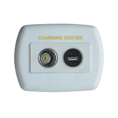 Picture of Diamond Group  White 12V USB Power Port Socket w/Wall Plate 61024USB 19-2692