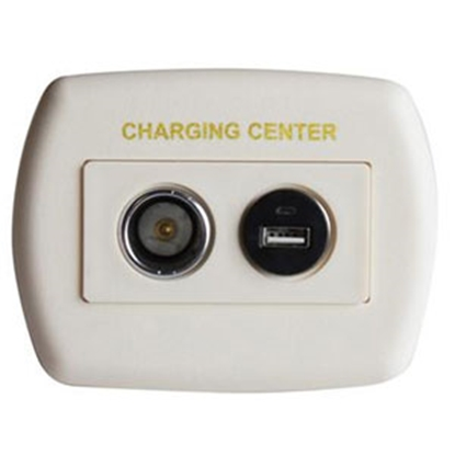 Picture of Diamond Group  Ivory 12V USB Power Port Socket w/Wall Plate 61025USB 19-2693