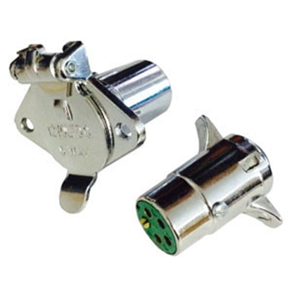 Picture of Pollak  5-Way Round Trailer Connector 11-500 19-2821