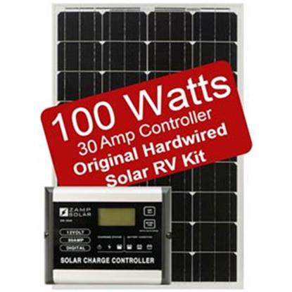 Picture of Zamp Solar  100W 5.6A Flexible Solar Kit ZS-100F-30A-DX 19-2833
