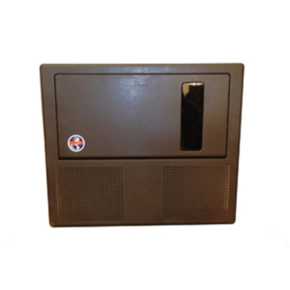 Picture of WFCO  Brown Plastic Door Assy for WF8955PEC-DA WF-8955PEC-DA 19-2858
