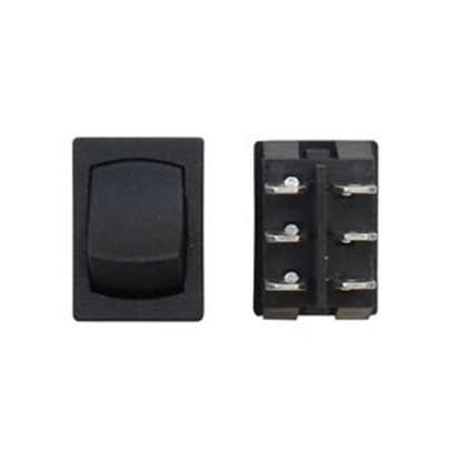 Picture of Diamond Group  Black 125V/ 16A DPST Rocker Switch For Water Pumps H2-28C 19-2927