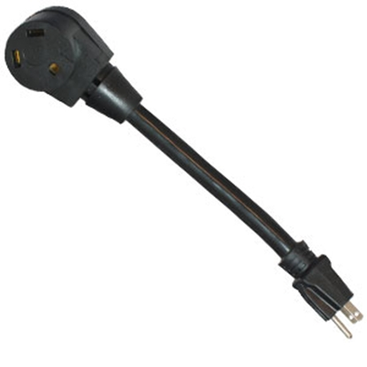 "Picture of Mighty Cord  12"" 15M/30F Power Cord Adapter A10-1530BK 19-2945"