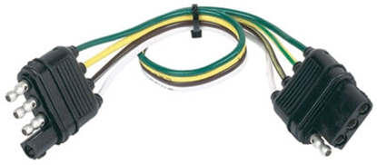 Picture of Husky Towing  4 Wire Flat Plug 12' Trailer Connector Extension 30312 19-3218