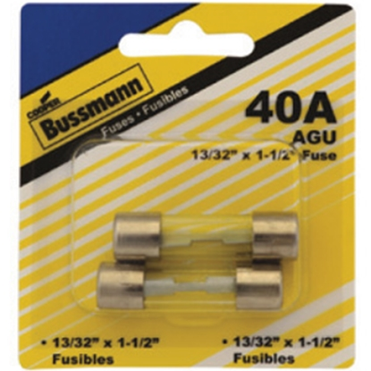 Picture of Bussman  2-Pack 40A AGU Glass Tube Fuse BP/AGU-40-RP 19-3413