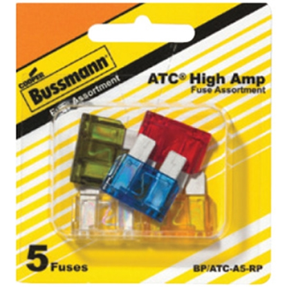 Picture of Bussman  5-Piece ATC Blade Fuse Assortment In Blister Pack BP/ATC-A5-RP 19-3426