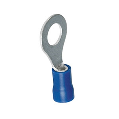 """Picture of Best Connection  Ring Terminal, 3/8"""", 16-14 Ga, Blue, 14/Pk 2011H 19-3444"""