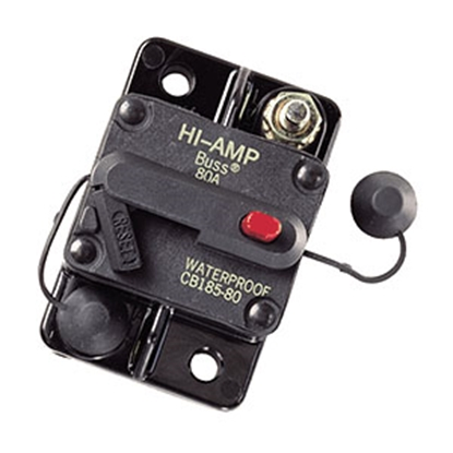Picture of Bussman TYPE III 135A/ 42V Manual & Switchable Reset Circuit Breaker BP/CB185-135 19-3484
