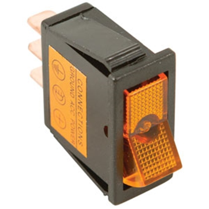 Picture of Battery Doctor  Yellow 12V/ 20A Lighted Rocker Switch 20531 19-3660