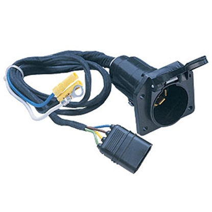Picture of Husky Towing  7 RV Blade To 4 Wire Flat Trailer Connector Adapter w/Wire 13166 19-3699