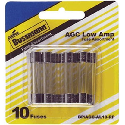 Picture of Bussman  10-Piece AGC Glass Fuse Assortment In Blister Pack BP/AGC-AL10-RP 19-3794