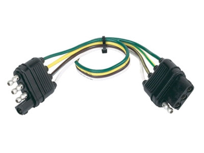 Picture of Husky Towing  4 Wire Flat Plug 12' Trailer Connector Extension 30280 19-3853