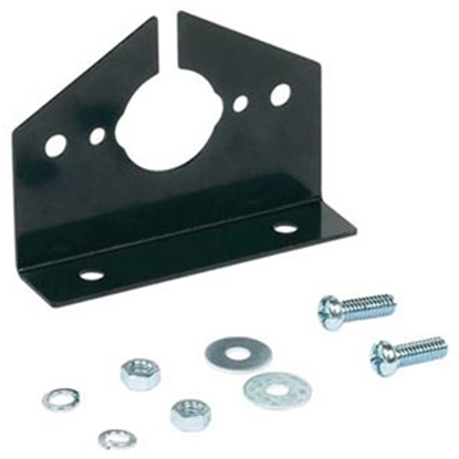 Picture of Husky Towing  Black 4/5/6-Way Trailer Connector Bracket (Carded) 32563 19-3866