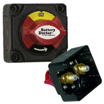 Picture of Battery Doctor  Mini Master Rotary Dial Disconnect Switch w/ On/Off Knob 20387 19-4128