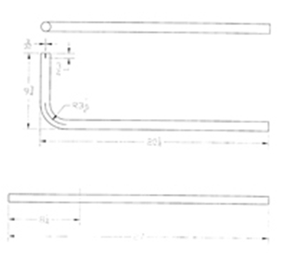 "Picture of Cummins Onan  1-1/4""Dia 90 Deg Bend Generator Tailpipe for Cummins Onan 046-00952 19-4225"