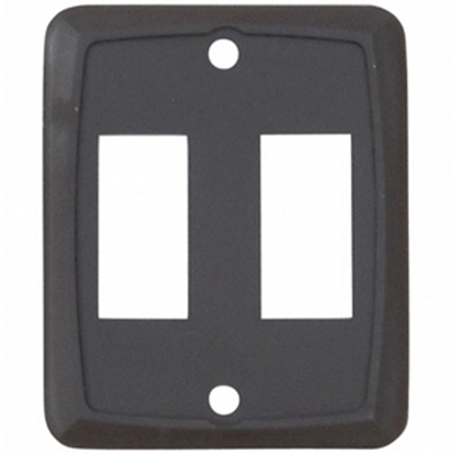 Picture of Diamond Group  Brown 125V/ 16A SPST Double Rocker Switch w/ Bezel BZ7218 19-5025