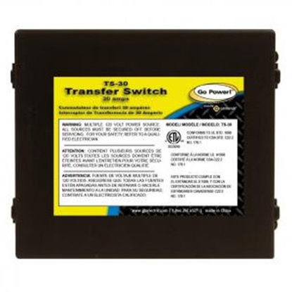 Picture of GoPower!  120V/ 30A Automatic Power Transfer Switch TS-30 19-6860